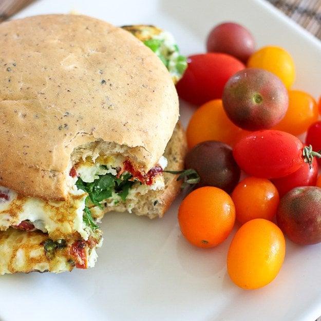 sandwich espinacas comida vegana