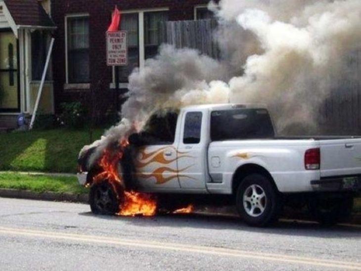 en llamas, literal