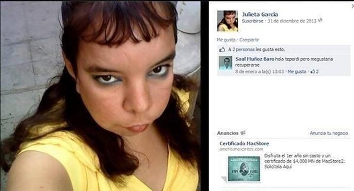 estado de facebook mujer con flequillo
