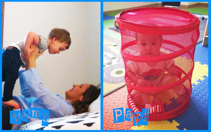dejar solo al bebé con mamá vs papá