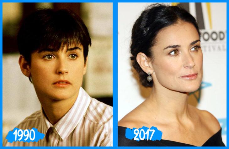 Demmi Moore antes y después