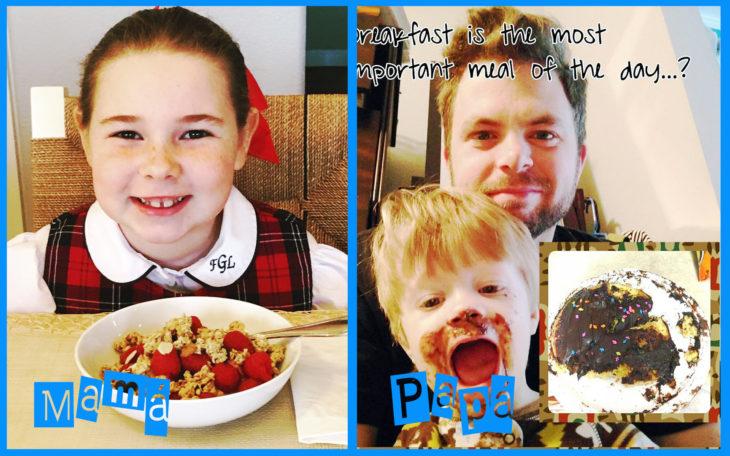 desayuno con mamá vs papá