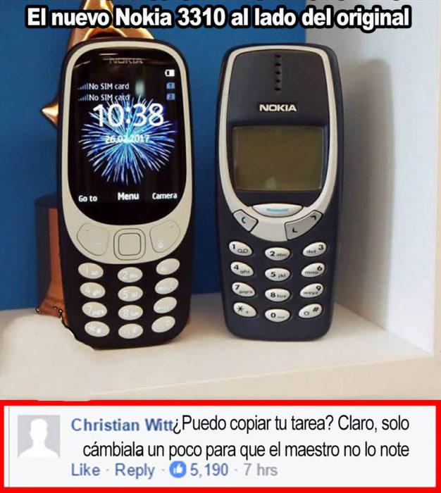celular nokia antiguo al lado de la nueva versión