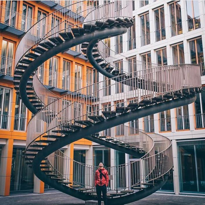 escaleras en forma de caracol