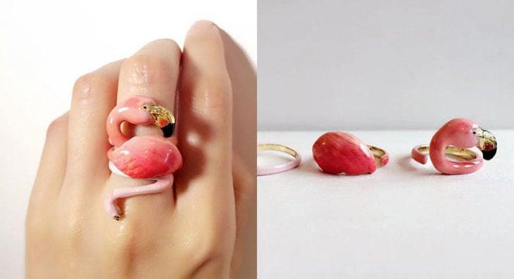 flamingo anillos