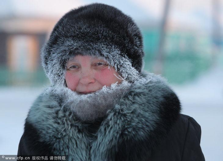 mujer fría en rusia