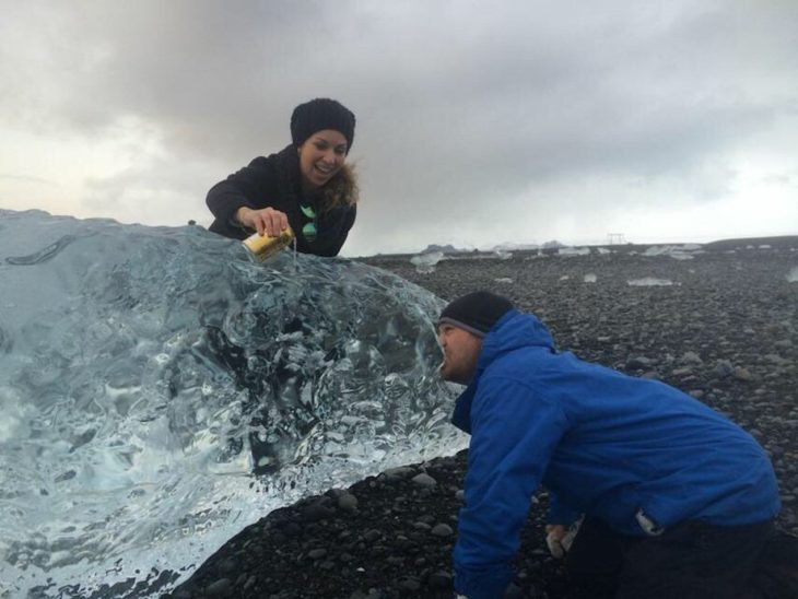 hielo lengua atascada