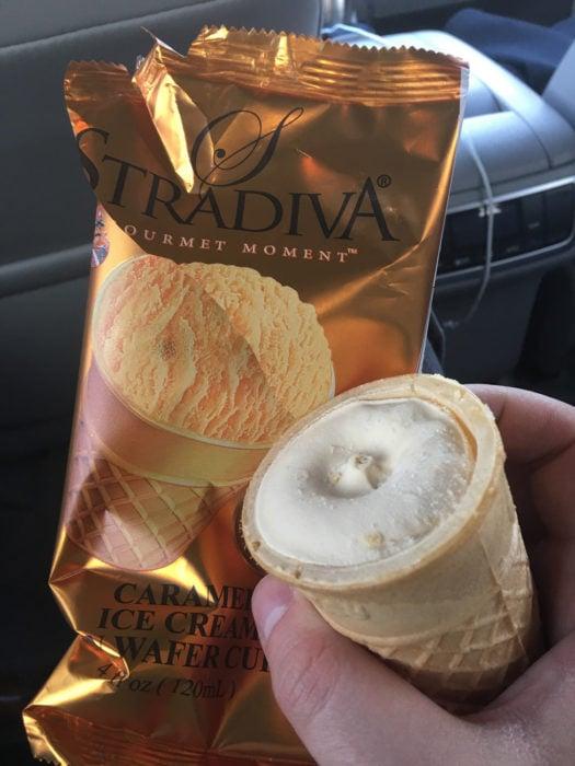 helado real es más feo que en el empaque