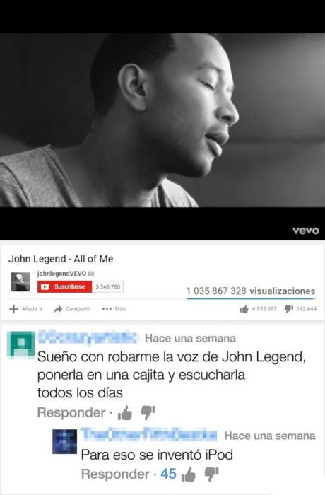 captura de un vídeo de john legend