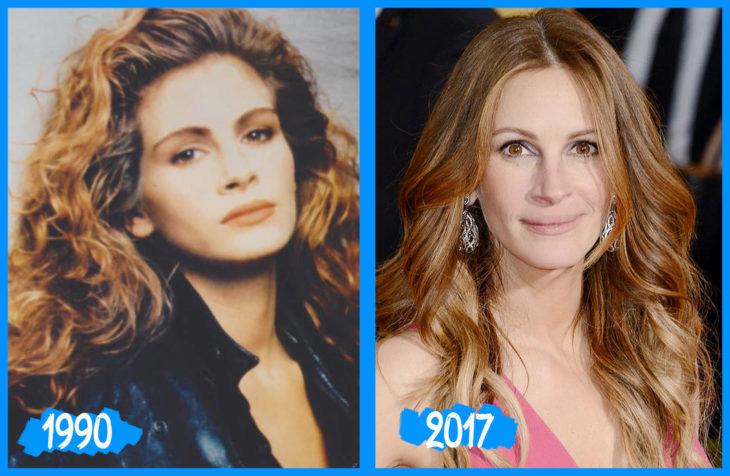 Julia Roberts antes e depois