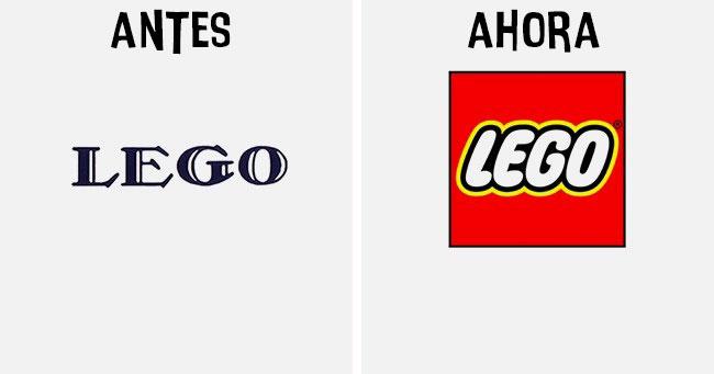 lego Cómo han cambiado los logotipos más famosos antes y después
