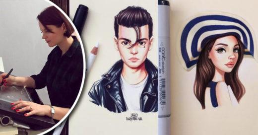 Cover La artista rusa Lera Kiryakova crea originales caricaturas de los famosos de Hollywood