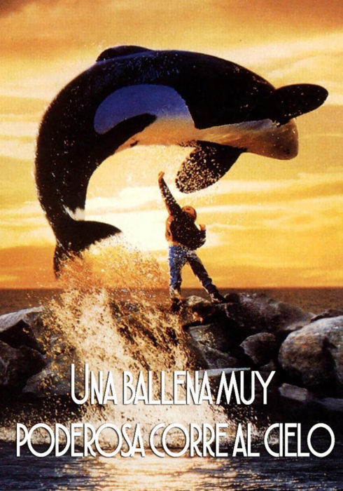póster de la película liberen a willy o Una ballena muy poderosa corre al cielo