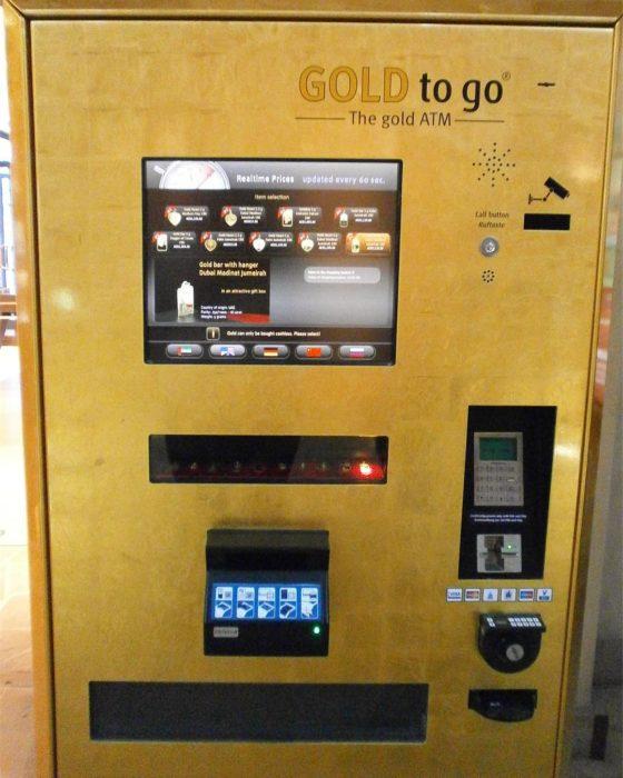máquina expendedora de oro