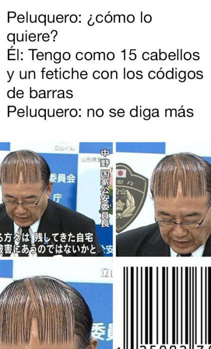 corte de cabello exótico código de barras