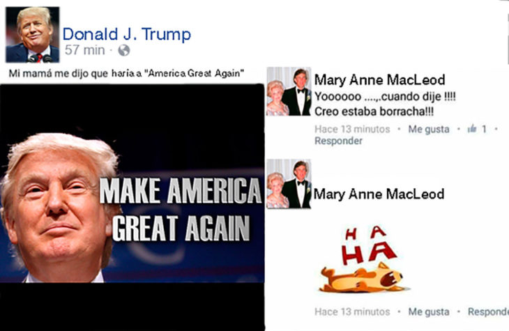 estado de facebook gracioso sobre donald trump