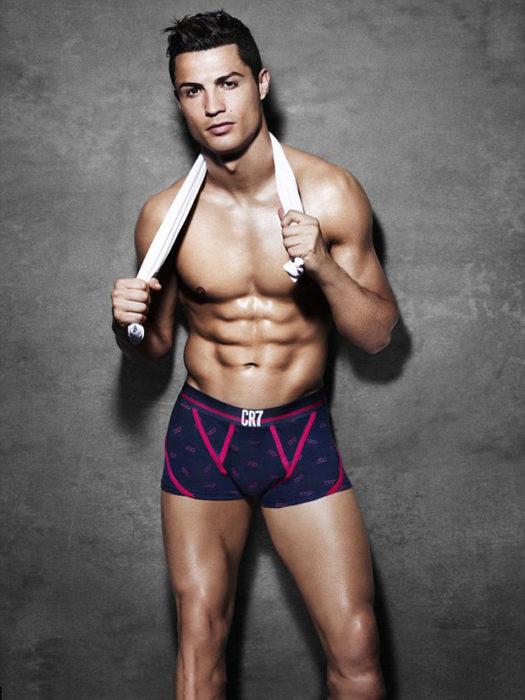 Cristiano Ronaldo fotografía músculos