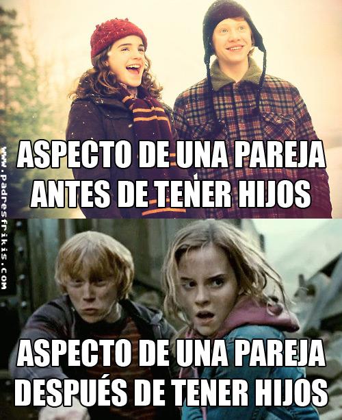 ron hermione después de tener hijos