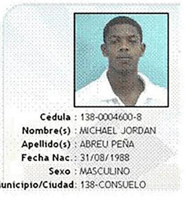 identificación de persona llamada michael jordan