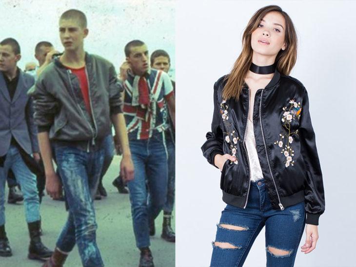 bomber jacket moda de los 80s