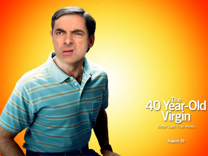 mr bean photoshop guerra virgen a los 40