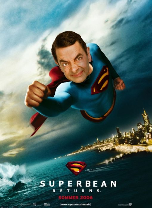 superman superbean Mr bean photoshop