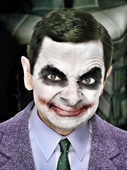 guasón mr bean guerra de photoshop