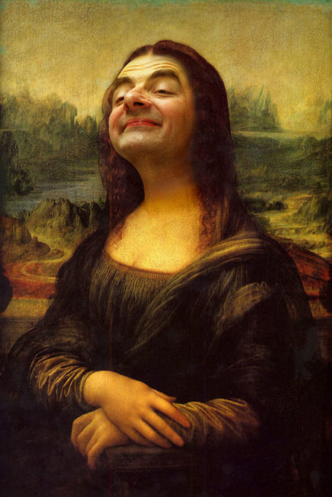 la mona lisa Mr bean photoshop