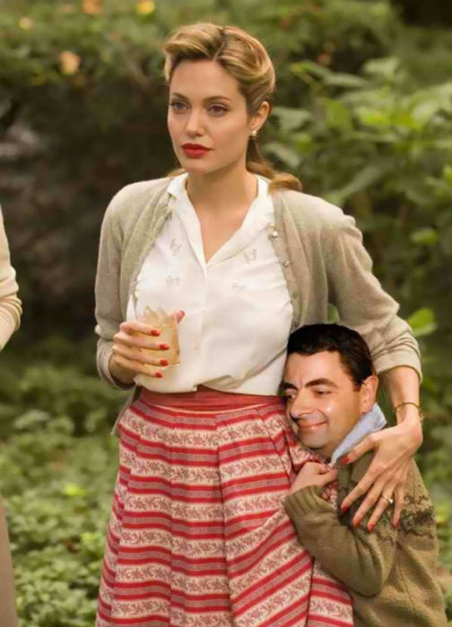angelina jolie mr bean guerra de photoshop