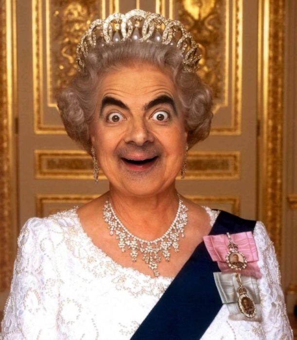 reina isabel mr bean guerra de photoshop