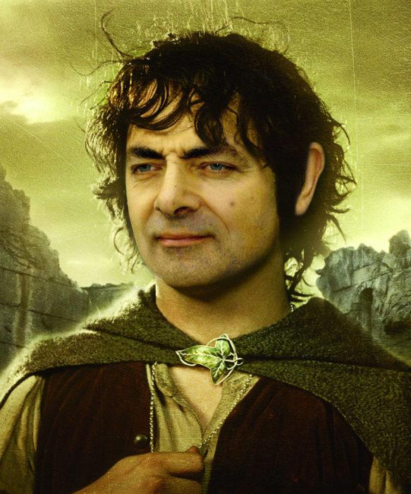 el señor de los anillos mr bean guerra de photoshop