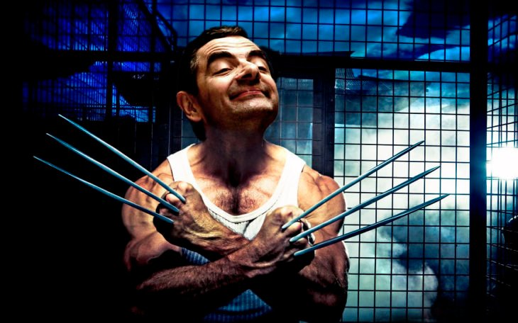 mr bean wolverine Mr bean photoshop