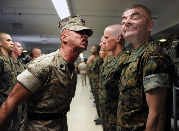 soldados mr bean guerra de photoshop