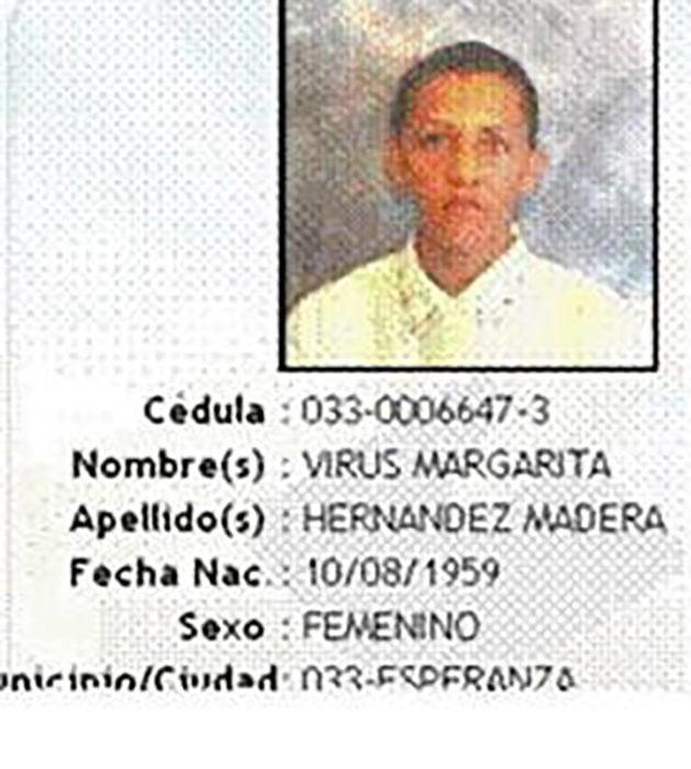 identificación de persona llamada virus margarita