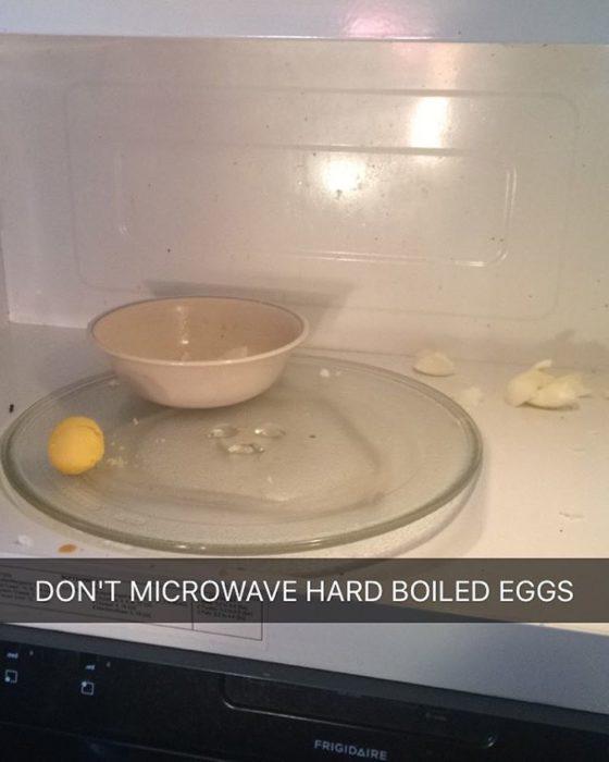 huevo cocido en microondas