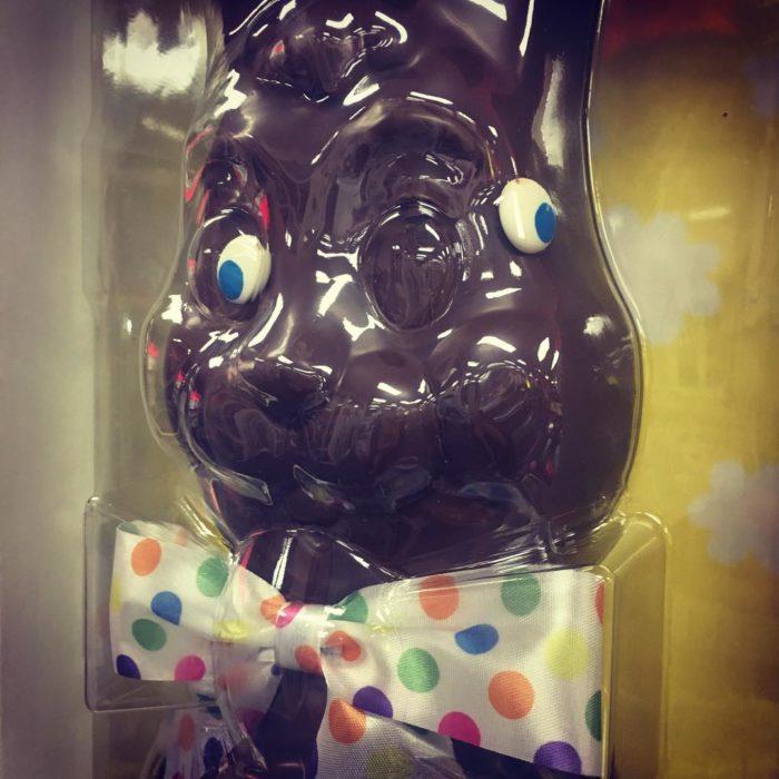 conejo de chocolate mal hecho