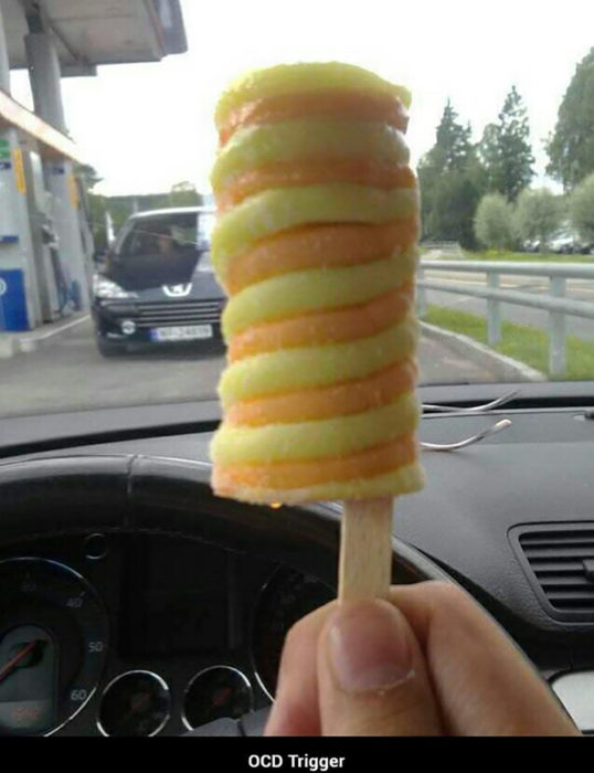 paleta de helado en forma de espiral