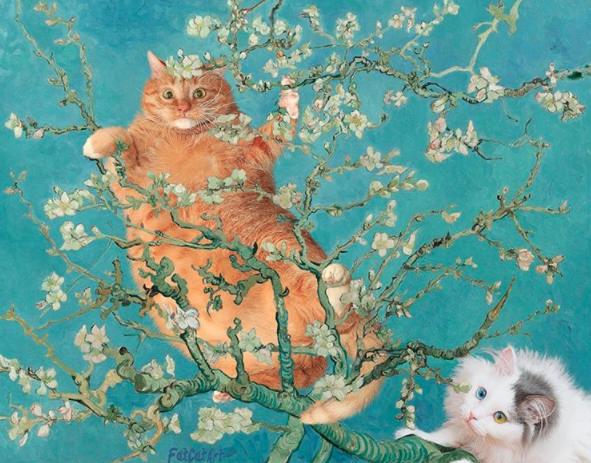 Almendro en Flor pintura Van gogh