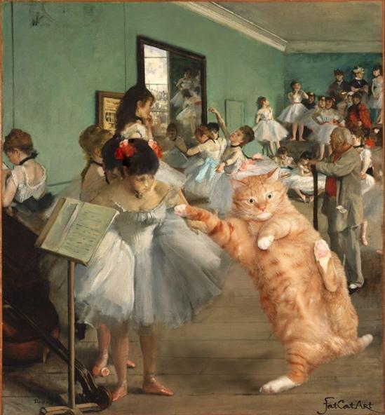gato Edgar Hilaire Degas pintura
