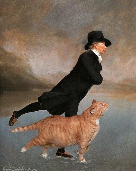 1784 ministro patinador Henry Raeburn gato pintura famosa