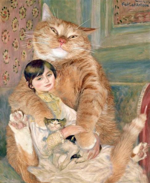 julie manet niña con gato pinturas famosas
