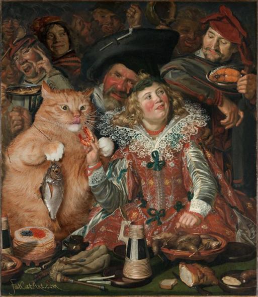 festejos de varnaval pintura famosa frans hal gato