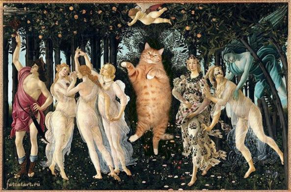 La primavera gato pinturas famosas Sandro