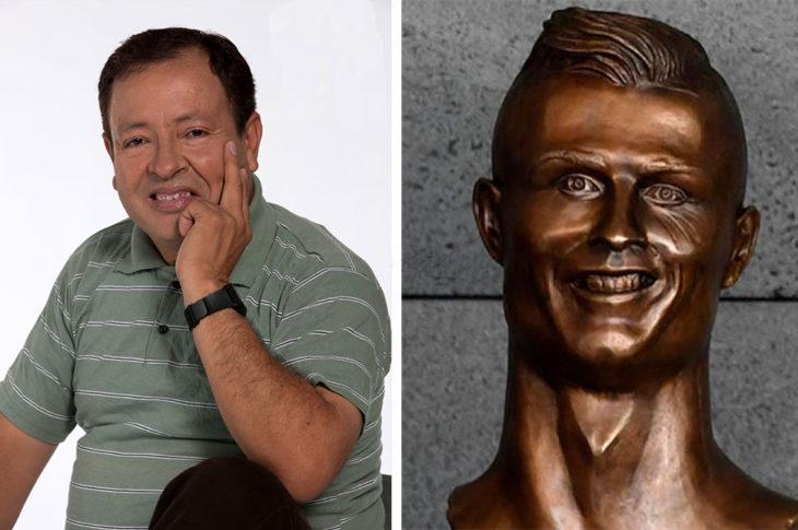 sammy meme cristiano ronaldo estatua busto bronce