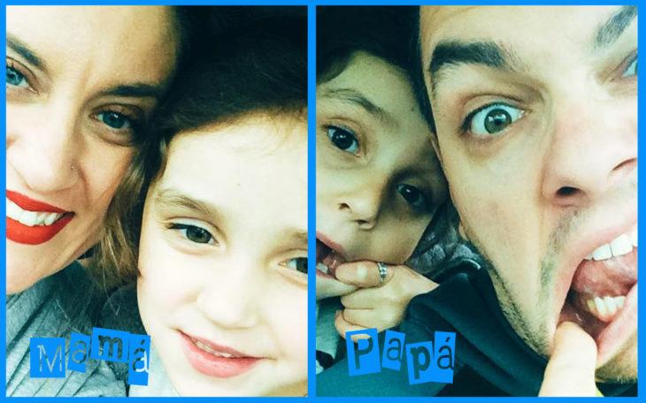 diferencia de selfie entre papá y mamá