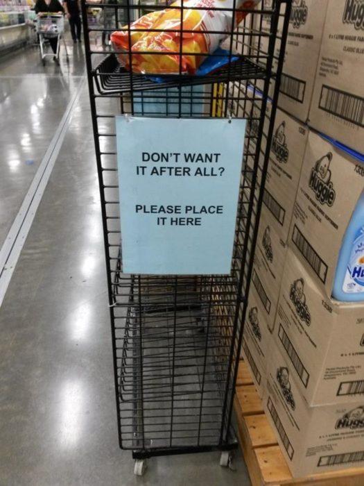 estante especial en el mercado para los productos que ya no quieras