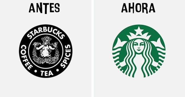 starbucks Cómo han cambiado los logotipos más famosos antes y después