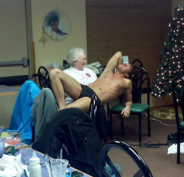 anciana con stripper