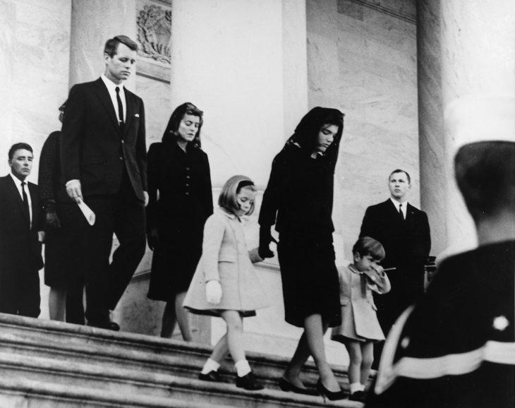 JFK Funeral blanco y negro
