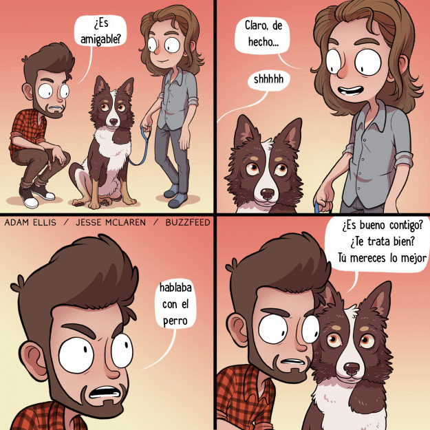 amigo humano estoy hablando con el perro